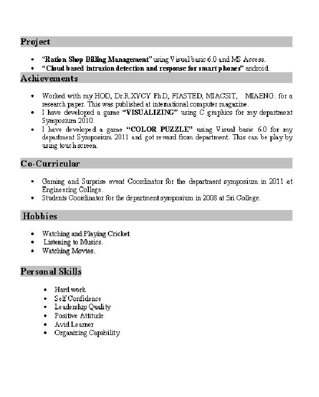 Resume For Freshers Format Youtube Resume Preparation