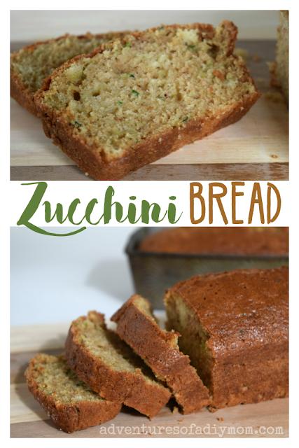 zucchini bread recipe  adventures of a diy mom