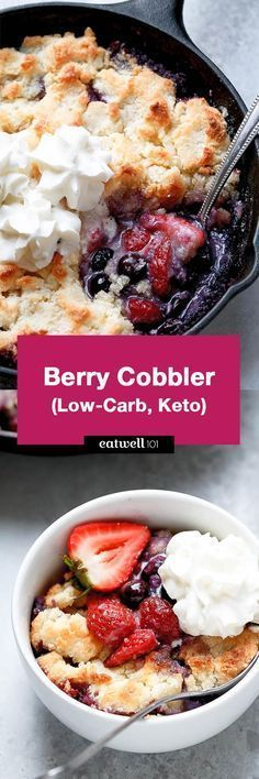 Berry Cobbler {Low-Carb, Keto}