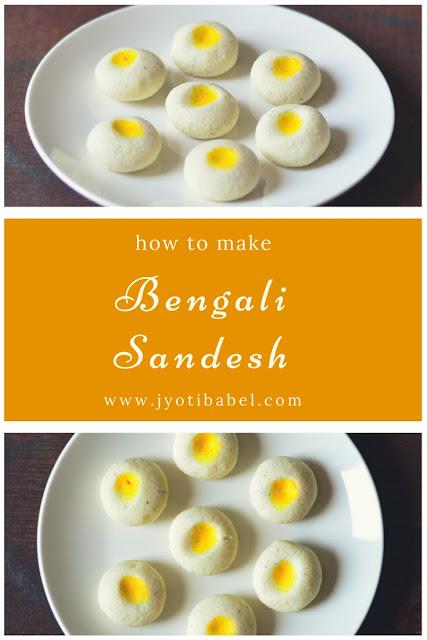 Sandesh / Sondesh is a traditional Bengali sweet. Sandesh Recipe | How to Make Sandesh