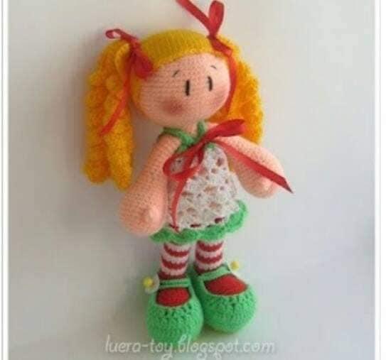 Imagem de amigurimi por D. Luffy | Padrão de boneca de crochê ... | 507x543