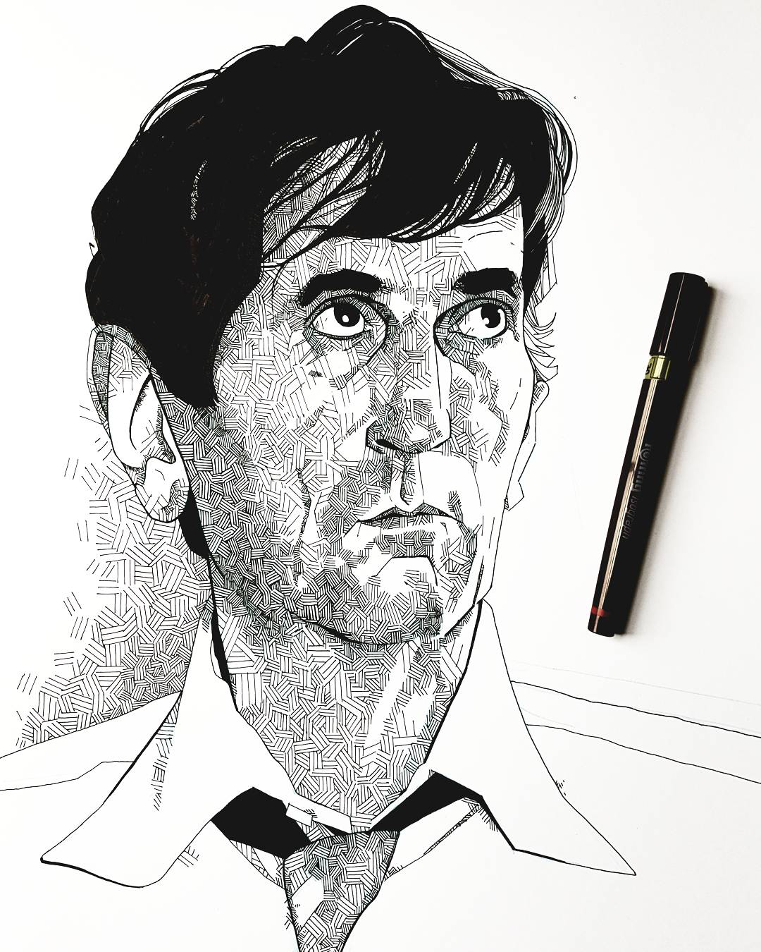 Harry Dean Stanton Portrait Illustration
