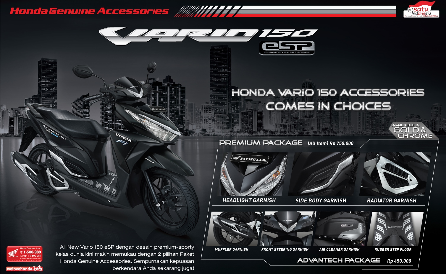 Anisa Counter Sales Dealer Nagamas Motor Klaten All New Cbr 150r Racing Red Jepara Dibekali Aksesori Cantik Honda Vario 150 Exclusive Chrome Gold Jadi Modis Tanpa Modifikasi