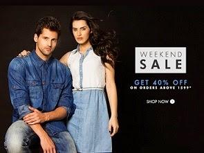 Weekend Sale: Flat 40% Extra Off on Clothing / Footwear @ Myntra