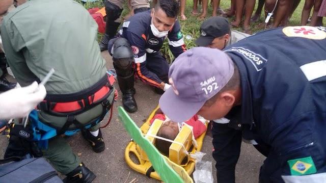 Pai e filho ficam feridos em acidente na GO-010, em Senador Canedo