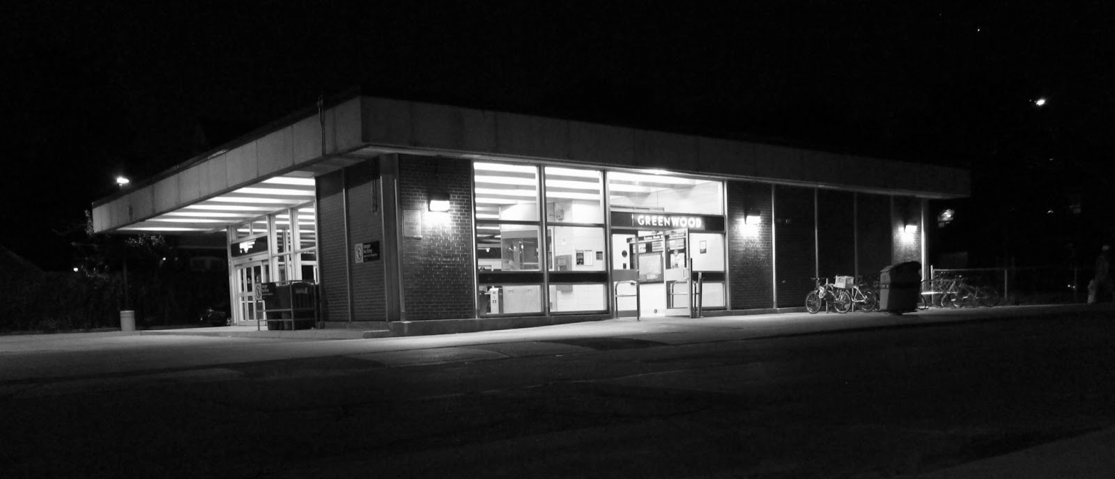 Greenwood station exterior