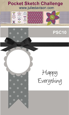 Pocket Sketch Challenge #10: Card Layouts to Inspire -- Win a free mini book with card layouts, measurements, and sample cards! www.juliedavison.com