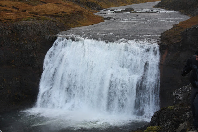Powerful waterfall in Iceland that is a setting for Drogon in Game of Thrones.