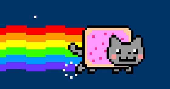 Chat Arc En Ciel Pixel Art