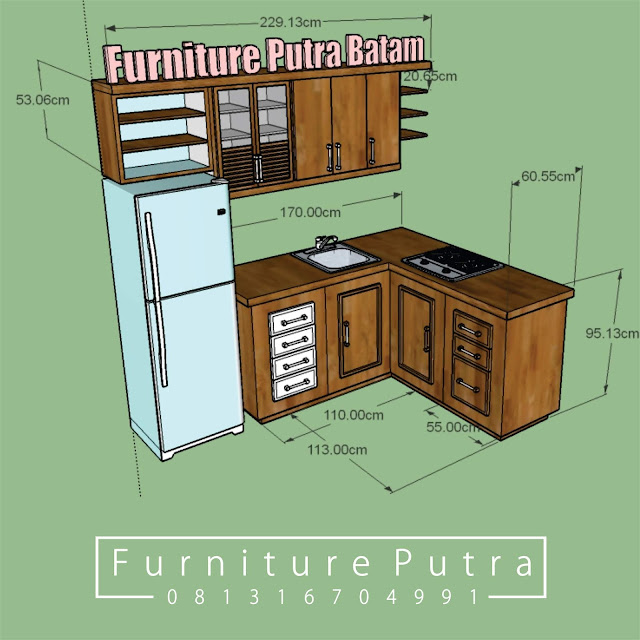 Kitchen Set Di Batam Furniture Putra Batam 081316704991