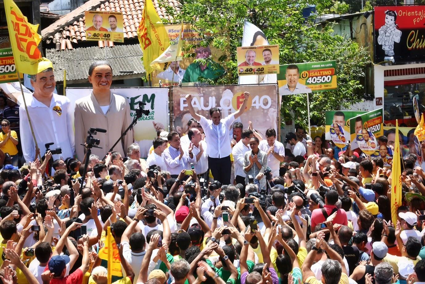 Candidatos defendem o legado de Eduardo Campos e dizem que avanços não podem parar
