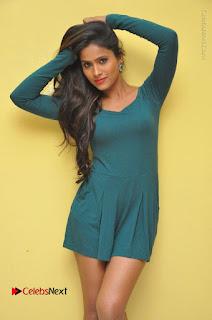 Telugu Actress Prasanthi Stills in Green Short Dress at Swachh Hyderabad Cricket Press Meet  0016.JPG