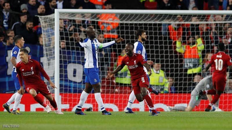 ليفربول يهزم بورتو بهدفين.. ويضع قدما في نصف نهائي الأبطال