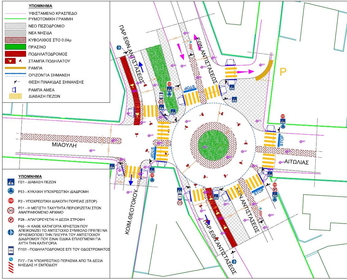 9ea22ade570 Τη διαμόρφωση 4 κυκλικών κόμβων επί της οδού Εθνικής Αντιστάσεως, προτείνει  και θέτει σε διαβούλευση ο Δήμος Παλλήνης.