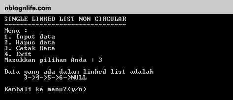 Single Linked List Pada C Nblognlife