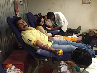 Blood Donation Camp Organized by Nextra Teleservices as part of its community service drive & to celebrate India's 70th Independence Day