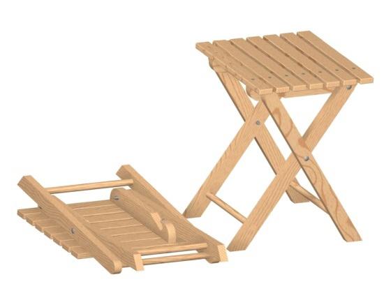 Costruzione sgabello pieghevole in legno fai da te