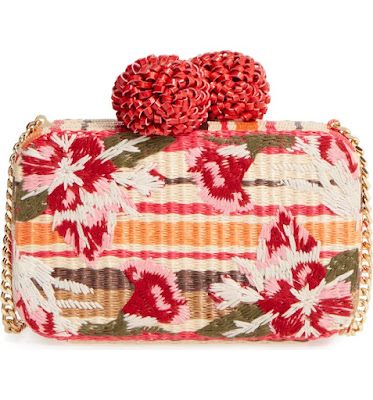 Sam Edelman Straw Clutch