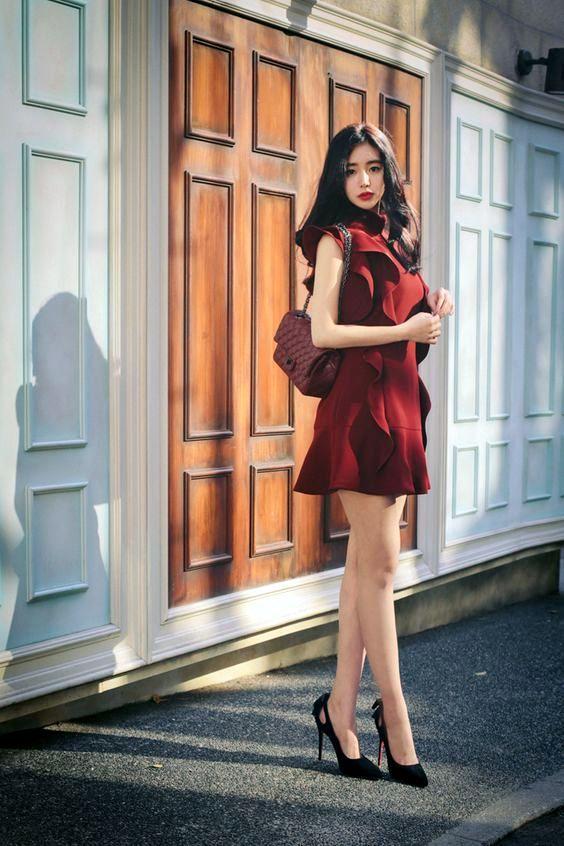 model baju korea pertama