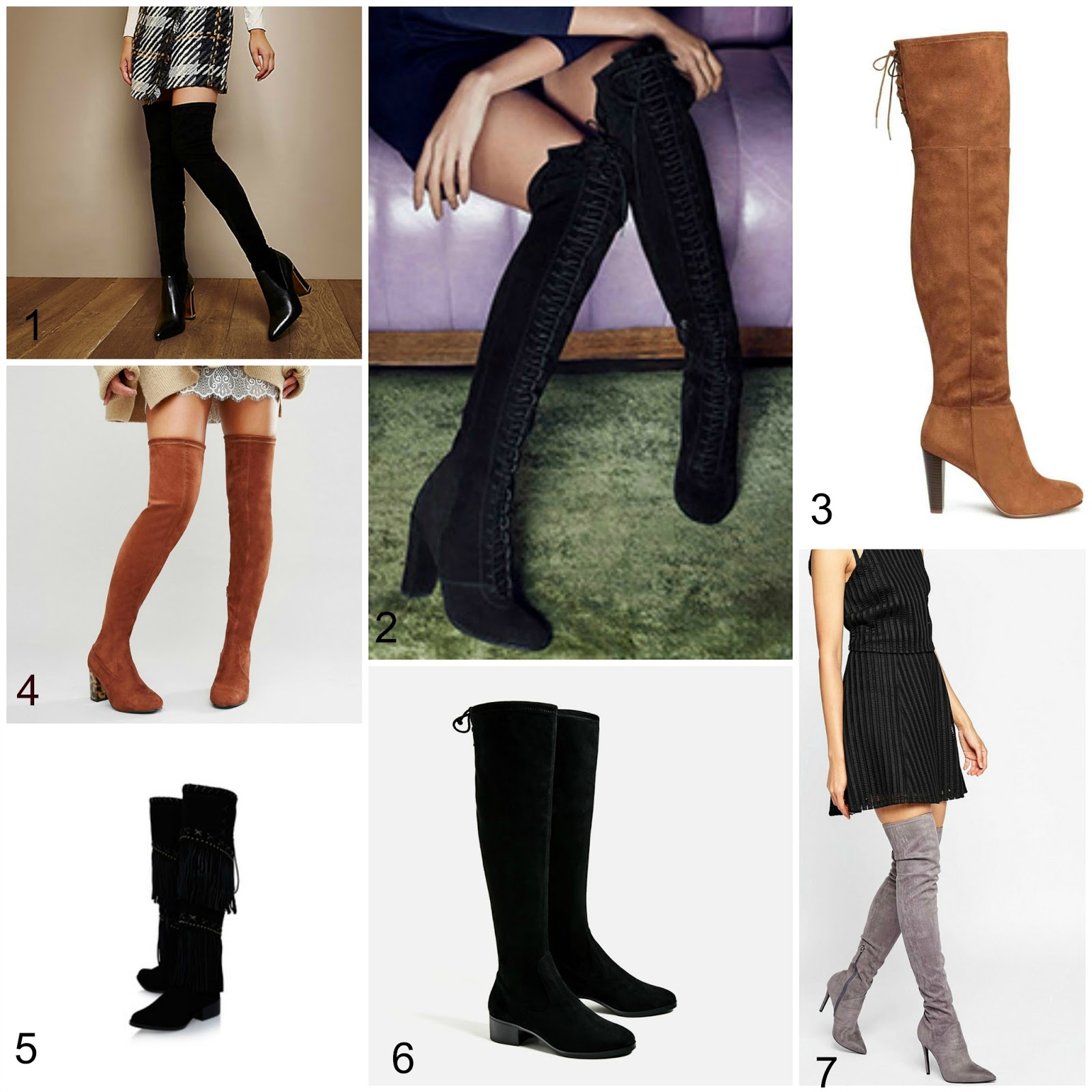Autumn 2016 Fashion Wishlist - Over the Knee Boots