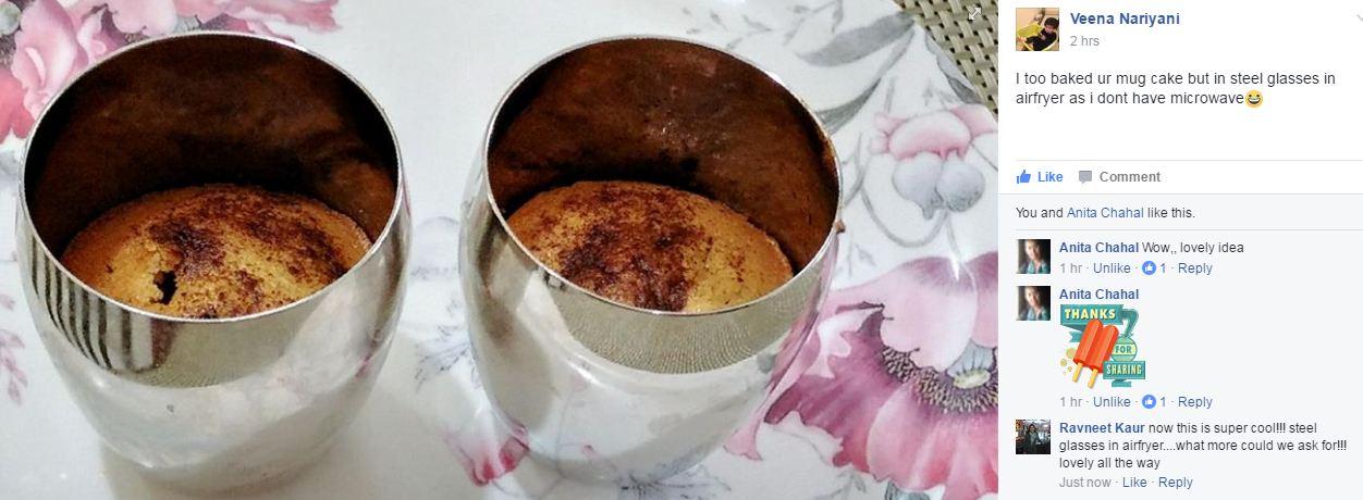 Cake In A Mug Recipes No Egg: 2-Min No Oil Mug Cake No Egg