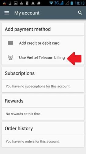 [Thủ Thuật] Mua Game, Ứng dụng trên Google play bằng tài khoản Viettel
