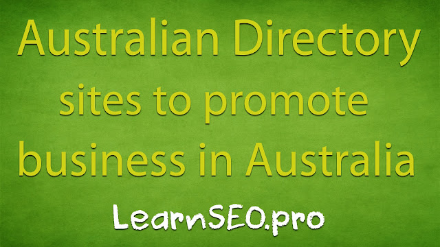 Australian Directory Submission Sites