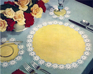 Crocheted Daisy Edging Pattern for Mats or Clothes