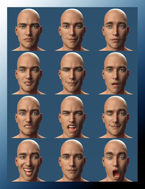 RealMike Expressions for Genesis 3 Male and Michael 7