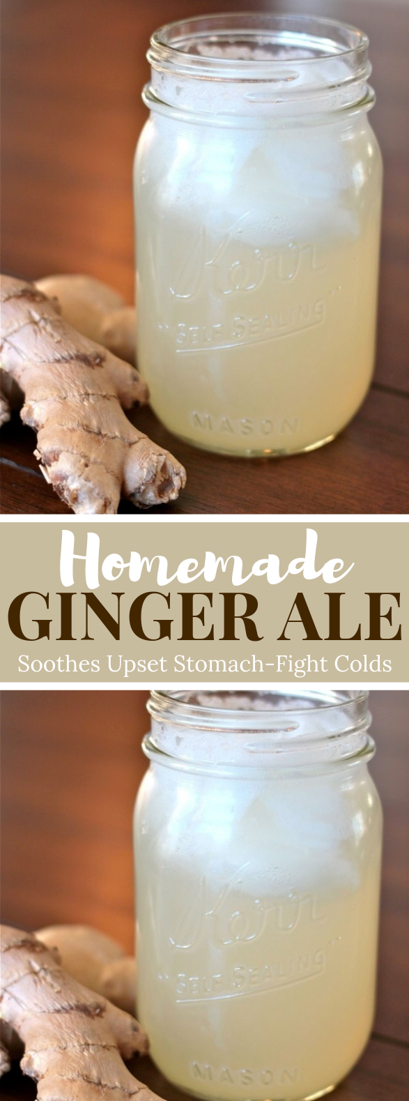 Homemade Ginger Ale #healthydrink #herbal