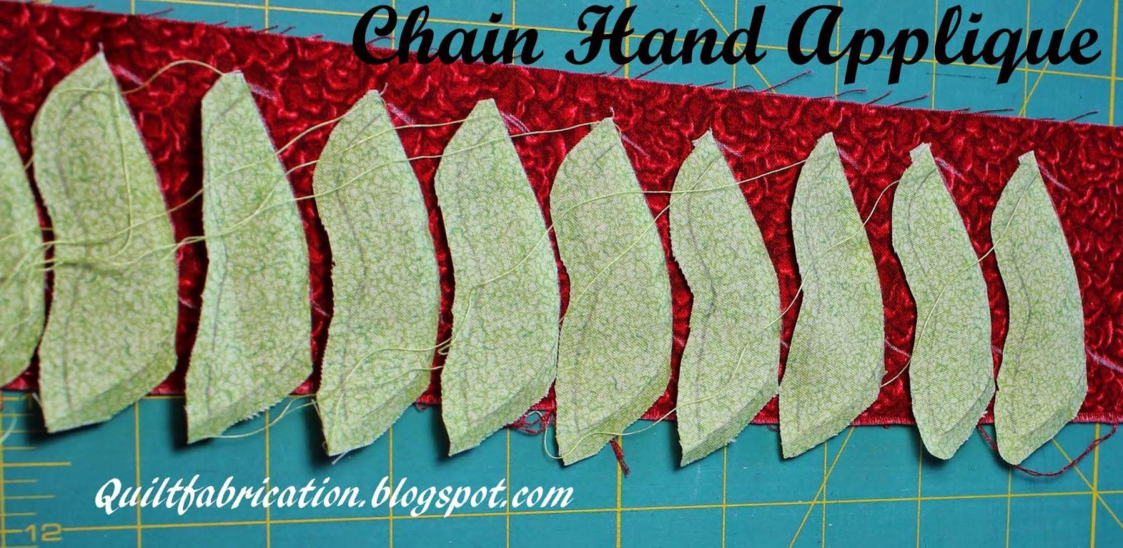 chain hand applique no-waste