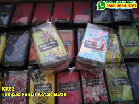 Grosir Tempat Pensil Kotak Batik