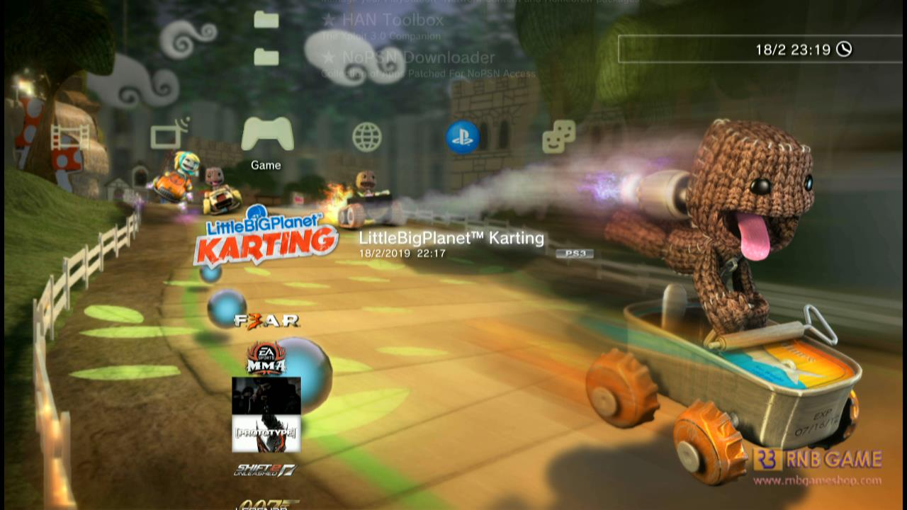 Download game PS3 format pkg untuk OFW Han LittleBigPlanet Karting