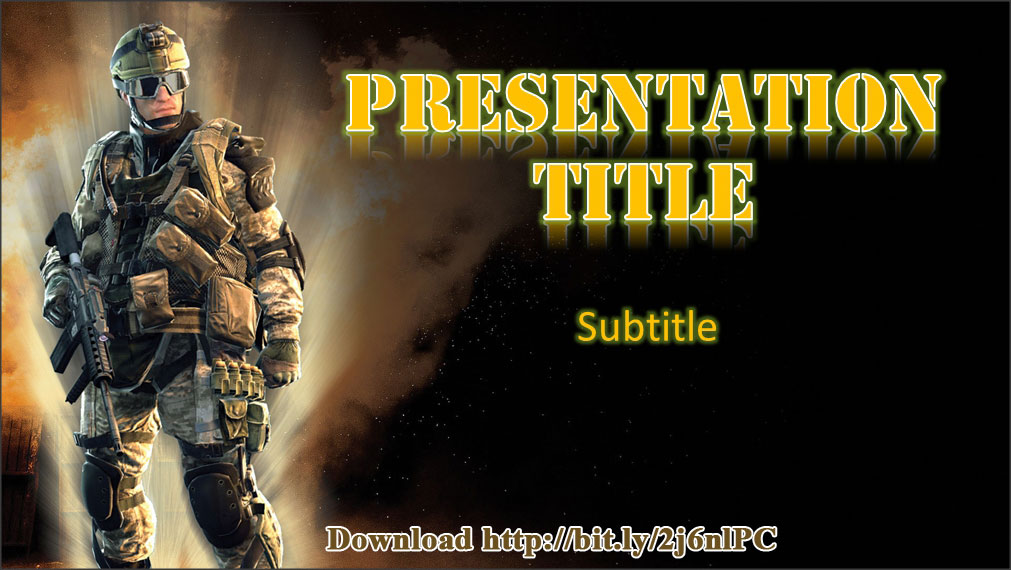 Download free soldier ppt presentation template and background image meanwhile for inner presentation page or content slide there is a trooper of combatant image on the left bottom corner a mayor part of the page is used toneelgroepblik Image collections