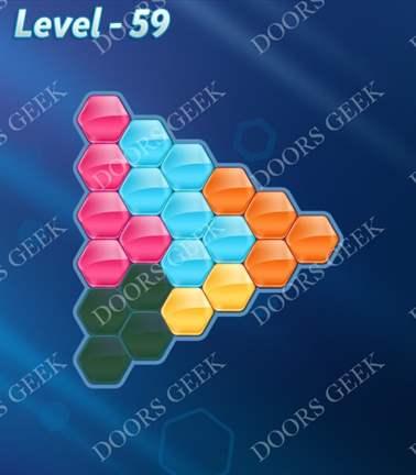 Block! Hexa Puzzle [Rainbow A] Level 59 Solution, Cheats, Walkthrough for android, iphone, ipad, ipod