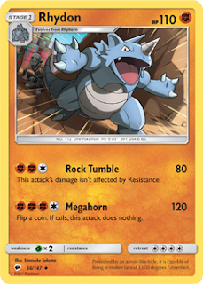 Rhydon Burning Shadows Pokemon Card