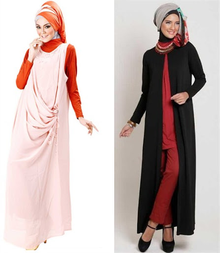 dress muslimah trendy terbaru 2017/2018