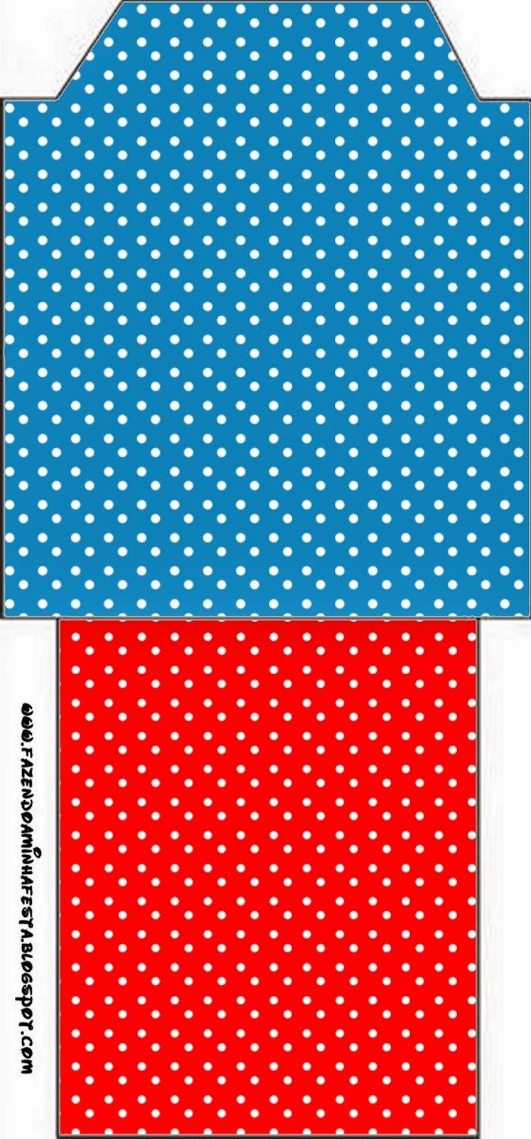 Bolsita de Té para imprimir gratis de Rojo, Amarillo y Azul.