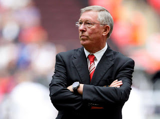 Former Manchester United manager Sir Alex Ferguson Champions League