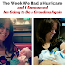 Weekly Wrap-Up: The Week We Had a Hurricane and I Announced I'll Be a Grandma Again