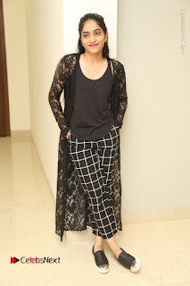 Actress Punarnavi Bhupalam Stills in Black Dress at Pittagoda Press Meet  0155.JPG