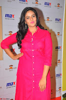 Sree Mukhi in Pink Kurti looks beautiful at Meet and Greet Session at Max Store (12).JPG