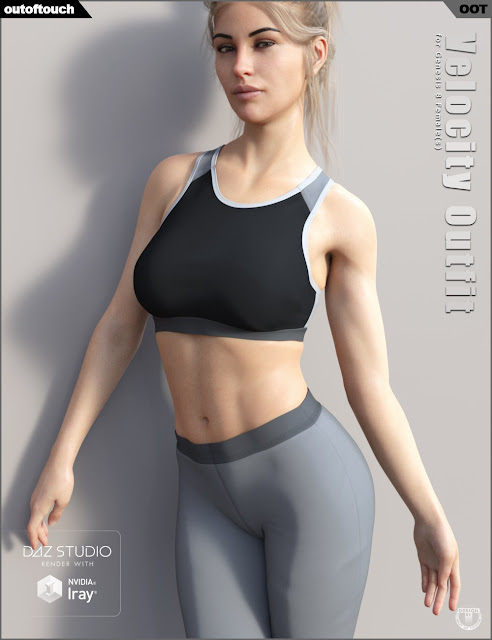 Velocity Outfit for Genesis 8 Female