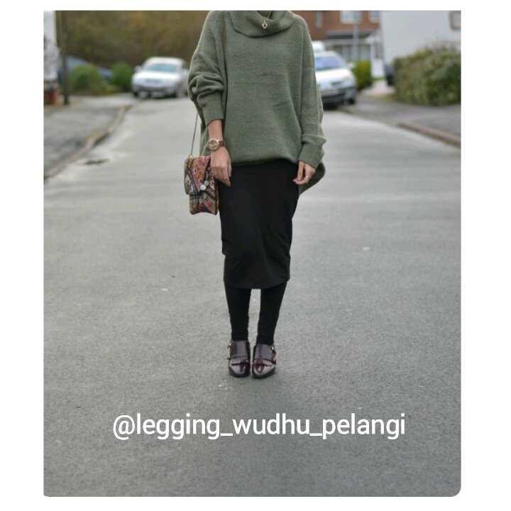 Legging Wudhu Pelangi Celana Hijab Muslim