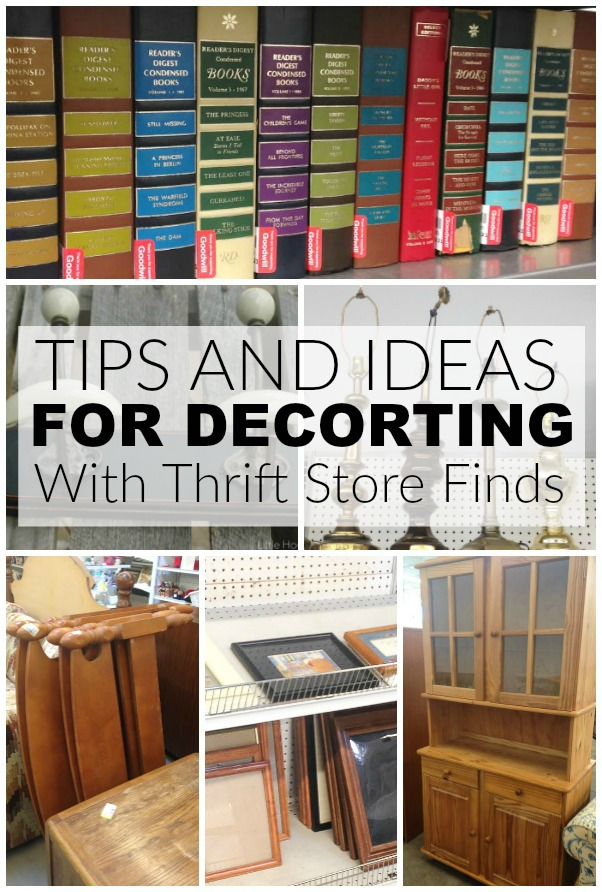 Tips for decorating with thrifted items