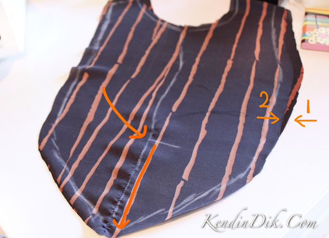dekolte, bluz, dikiş adımları, sewing steps Burda 09/2010