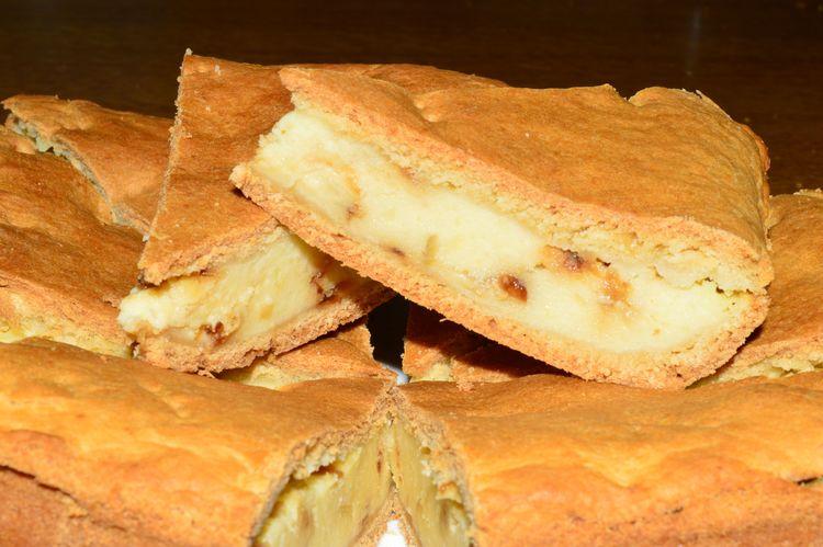 Пирог с сыром без яиц