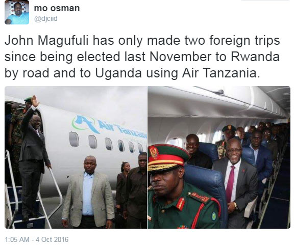 Hope Nigerian politicians are watching? Tanzania president flies economy