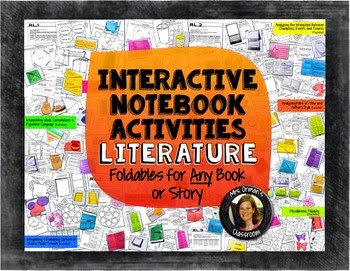 http://www.teacherspayteachers.com/Product/Interactive-Notebook-Reading-Literature-Bundle-for-Any-Novel-or-Story-1317926