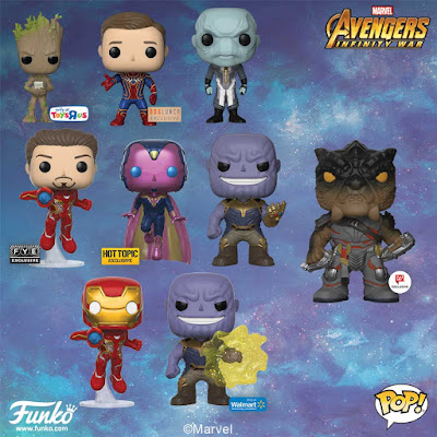 Avengers: Infinity War Pop! Retailer Exclusive Vinyl Figures by Funko x Marvel